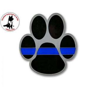 Thin Blue Line Paw Sticker - 3x3.5