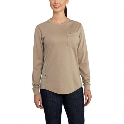Carhartt Womens FR Force Cotton Long Sleeve Crewneck Shirt