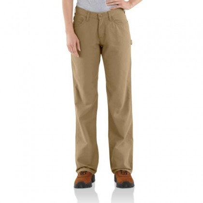 Carhartt Women's Flame-Resistant Canvas Work Pant - Golden Khaki