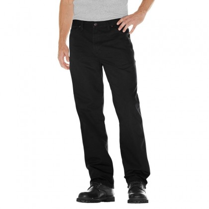 Dickies Relaxed Fit Straight Leg Carpenter Duck Jean - Black